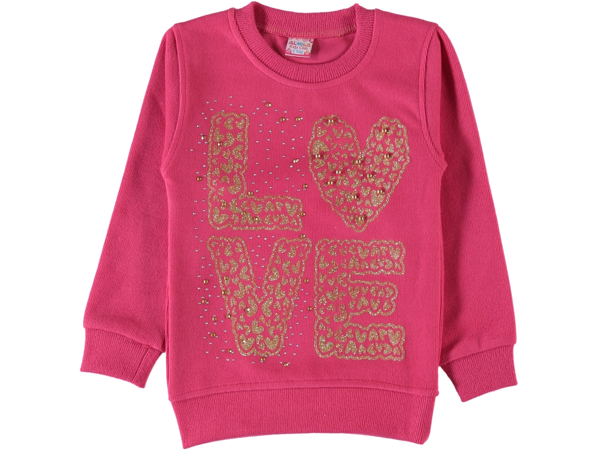 LOVE SİMLİ SELANİK KIZ SWEAT 9/12 YAŞ