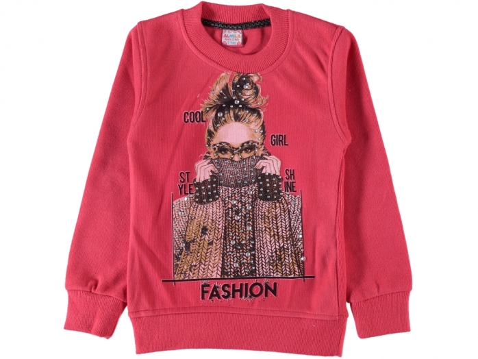 FASHION BASKILI SELANİK KIZ SWEAT 9/12 YAŞ