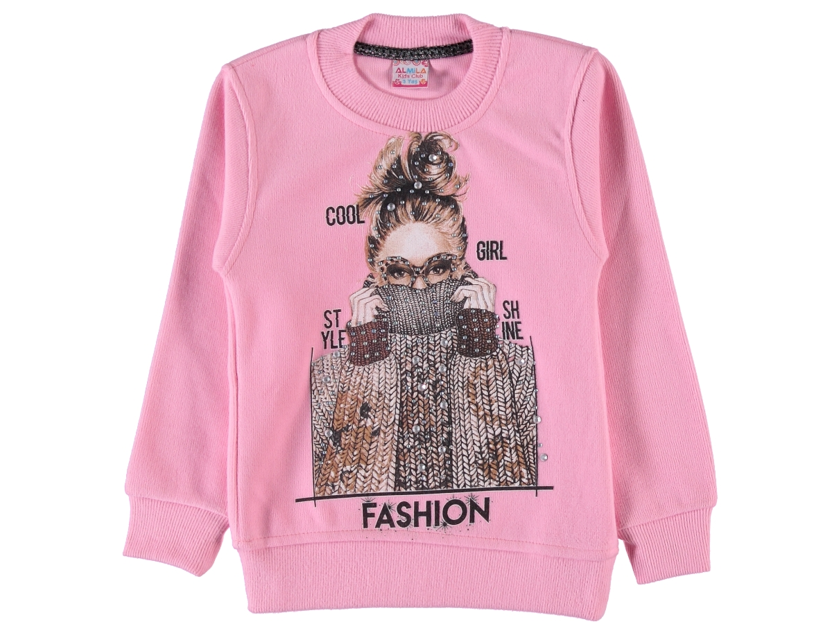 FASHION BASKILI SELANİK KIZ SWEAT 5/8 YAŞ