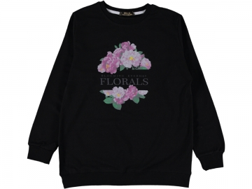 FLORALS BASKILI BATTAL SWEAT L/XXL  - L,XL,XXL Yaş