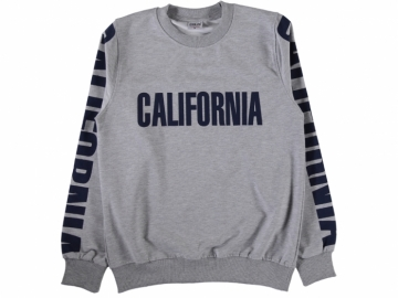 CALIFORNIA BASKILI İKİ İP ERKEK SWEAT S/XL  - S,M,L,XL Yaş