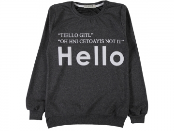 HELLO BASKILI İKİ İP SWEAT S/XL  - S,M,L,XL Yaş