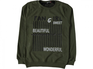 BAYAN FAN GIRL BASKILI İKİ İP SWEAT M,L,XL  - M,L,XL Yaş