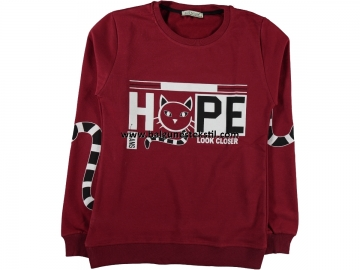 BAYAN HOPE BASKILI İKİ İP SWEAT M,L,XL  - M,L,XL Yaş