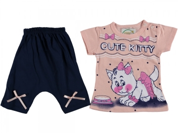CUTE KITTY BASKILI TAKIM 6/24 AY  - 6 Ay,12 Ay,18 Ay,24 Ay Yaş